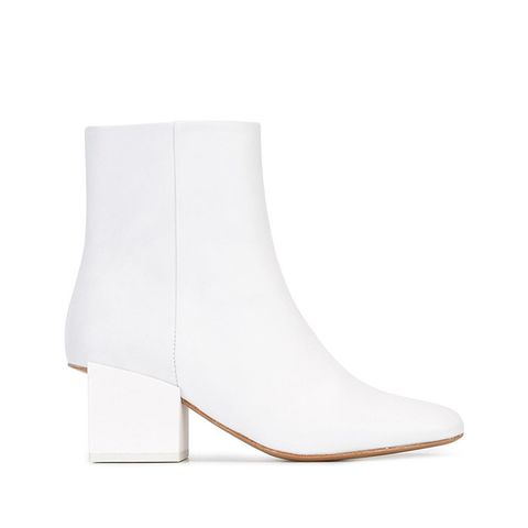 Geometric Heel Ankle Boots