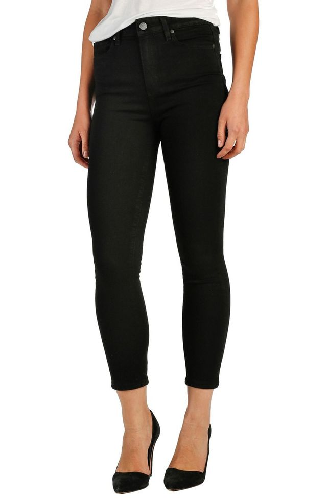 Paige Margot High Rise Crop Ultra Skinny Jeans