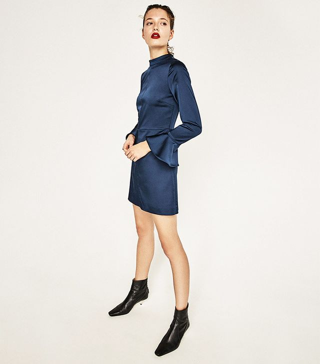 Zara Sateen Open Back Dress