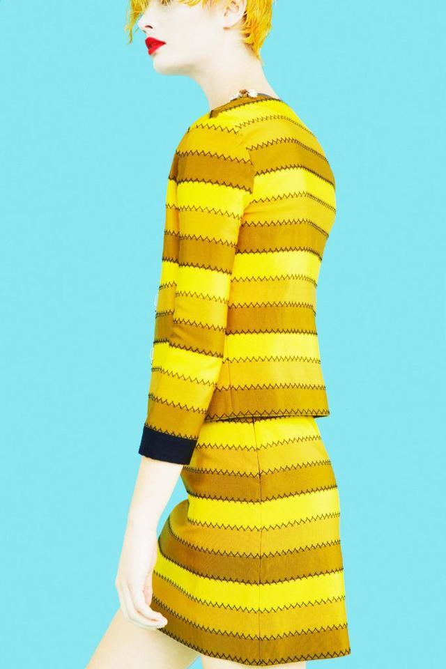 Mary Katrantzou Krayola Jacket($3700), Clovis Skirt($1,100).