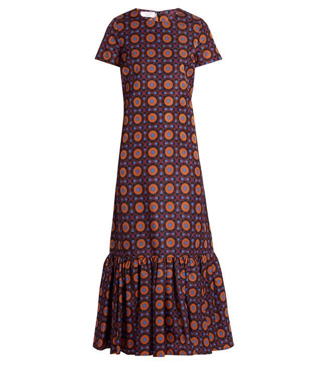 La DoubleJ Editions The Maiolica-Print Rain Dress