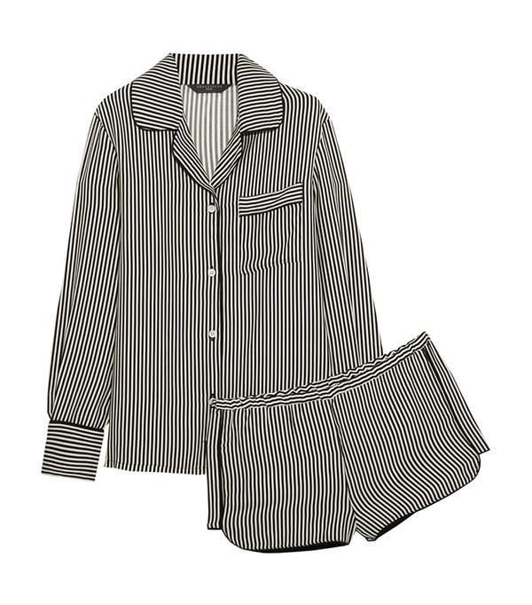 Three J NYC Jane Striped Silk Pajama Set