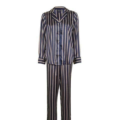 Satin Stripe Pajama Set