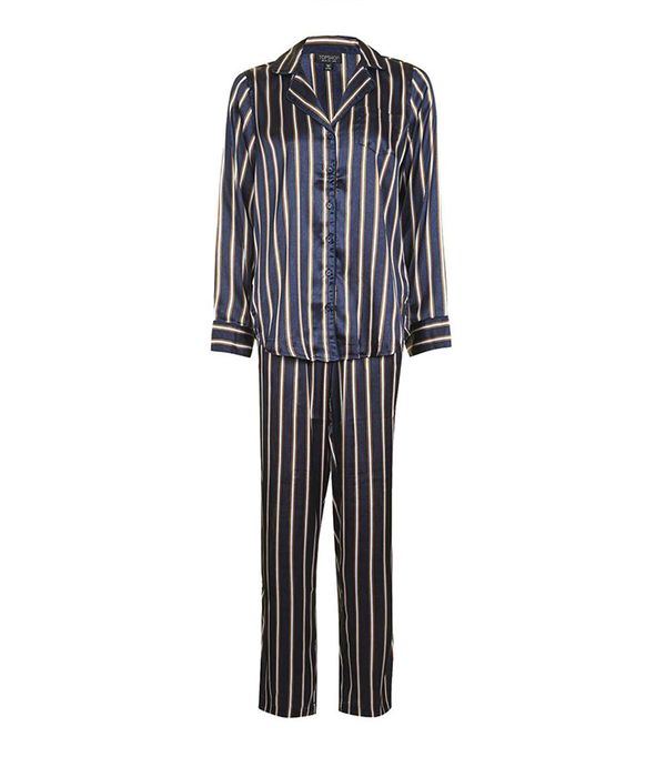 Topshop Satin Stripe Pajama Set
