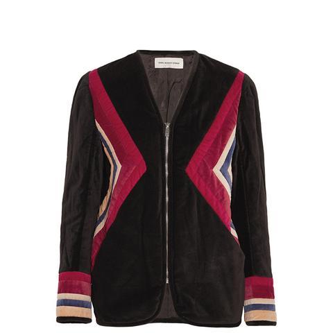 Lalia Paneled Velvet Jacket