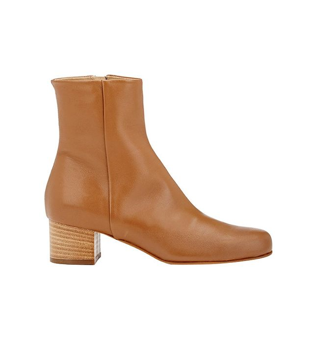 Barneys New York Leather Ankle Boots