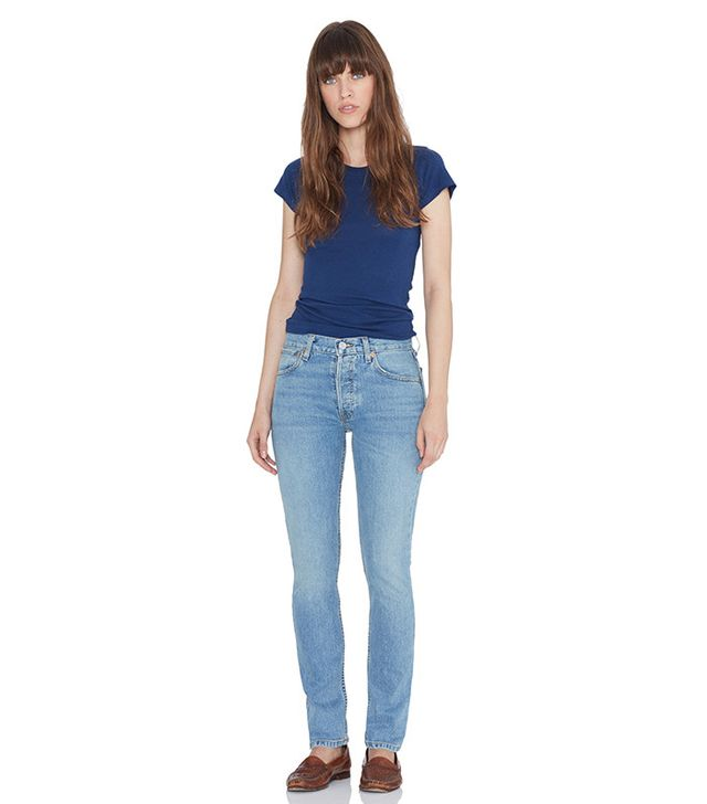 Re/Done Straight Skinny Stretch in Light Wash