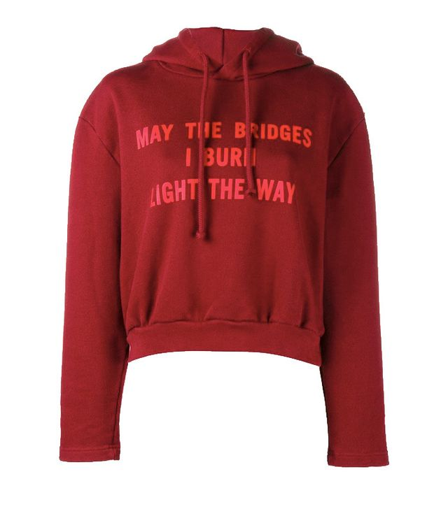 Vetements Exaggerated Shoulder Cropped Hoodie