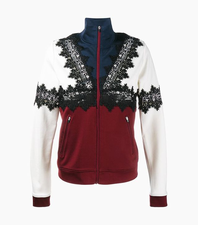 Ganni Lace Appliqué Sports Jacket