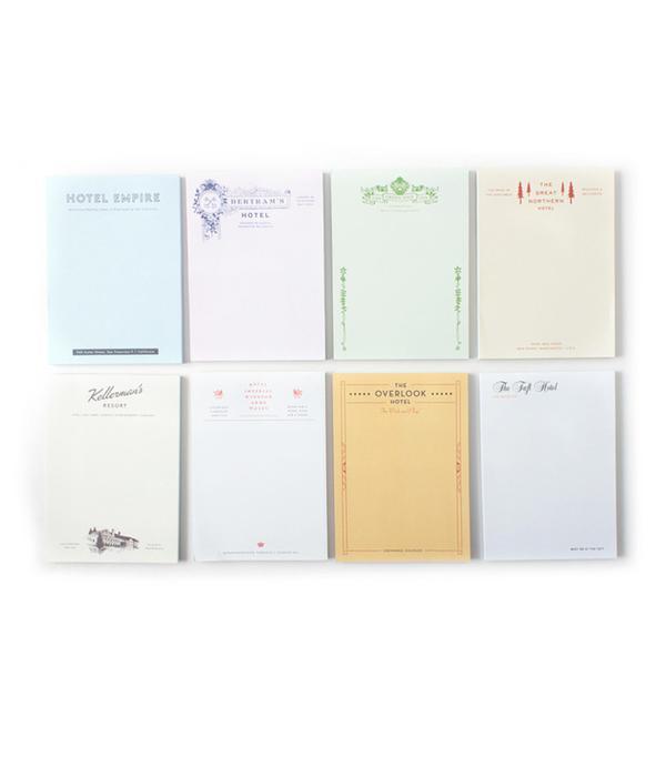 Catbird Fictional Hotel Notepads