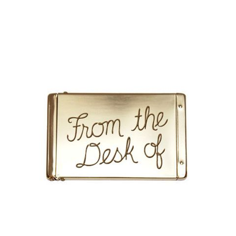 Flip Top Card Case/From the Desk Of in Brass