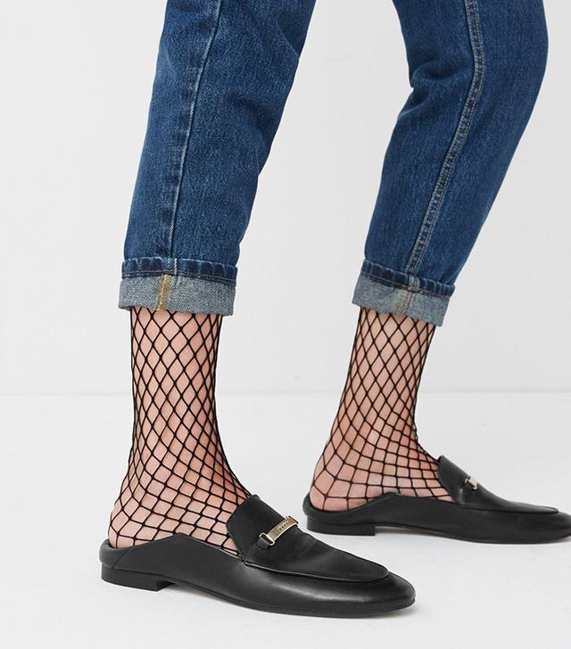 Mango Fishnet Ankle Socks