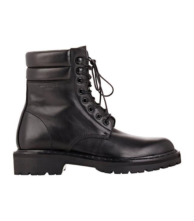 Saint Laurent Leather Trekker Boots