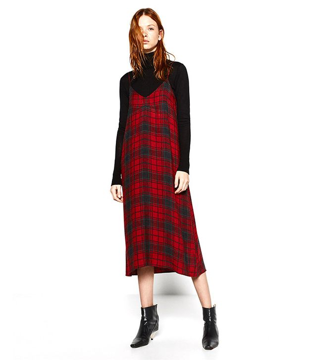 Zara Checked Slip Dress