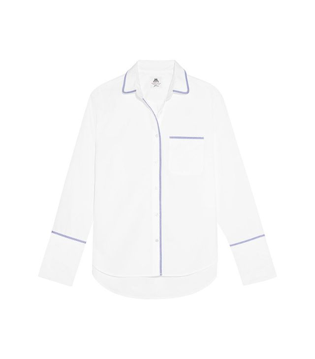 J.Crew x Thomas Mason Darn Cotton-Poplin Shirt