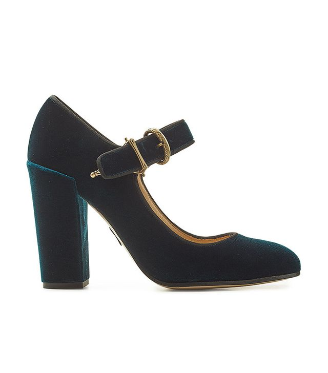 Paul Andrew Velvet Pumps