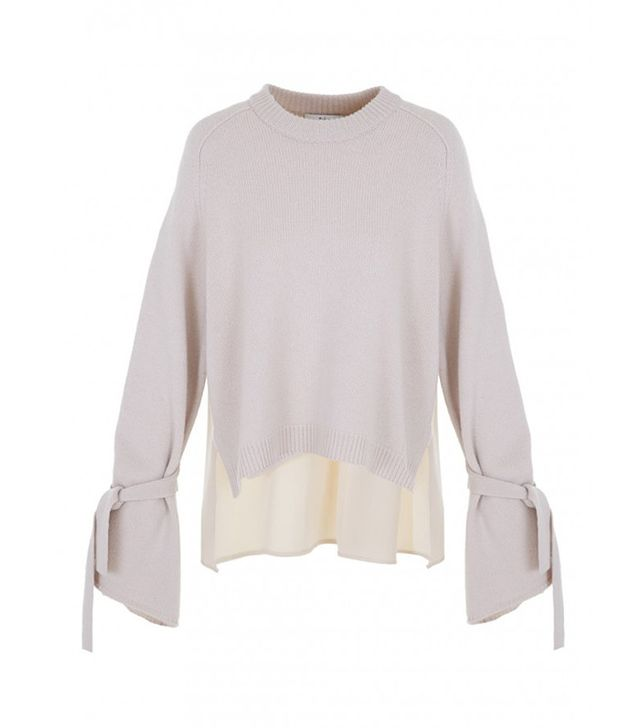 Tibi Cashmere Silk Combo Sweater