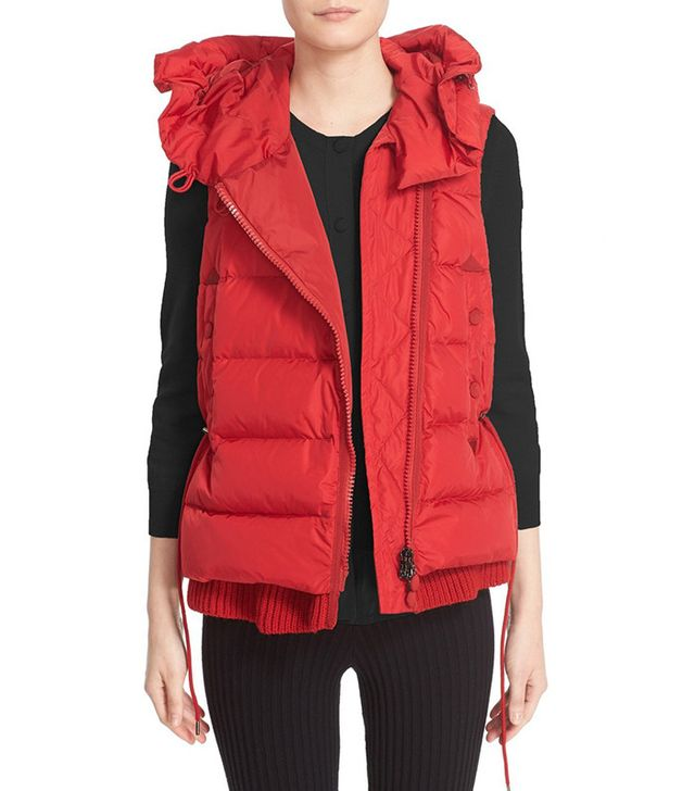 Moncler 'Laurie' Hooded A-Line Down Vest