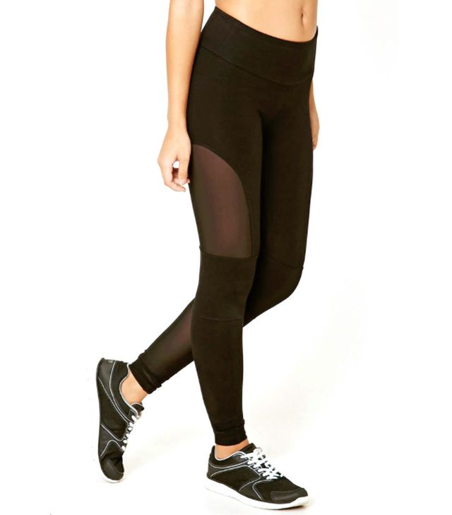Forever 21 Active Mesh-Paneled Leggings