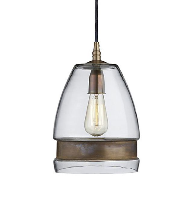 Crate and Barrel Morela Glass Pendant Light