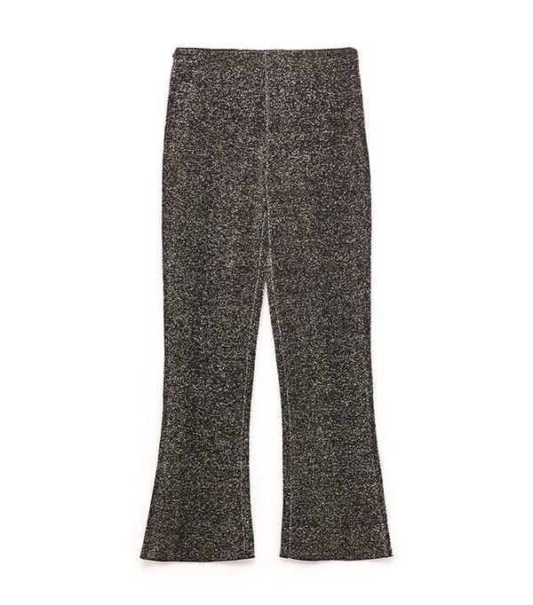 Zara Shiny Bell-Bottom Trousers