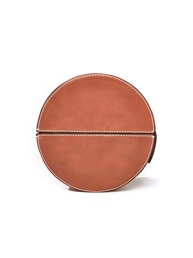 Zara Studio Oval Leather Minaudiere