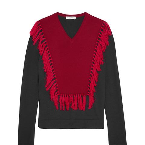 Ming Fringed Wool Sweater