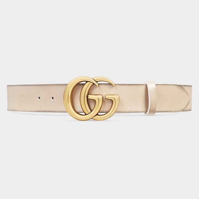 Gucci Leather belt with Double G Buckle in Oatmeal