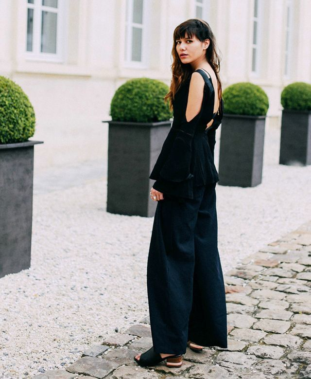Natalie Suarez of Natalie Off Duty wearing Dear Frances mules in France