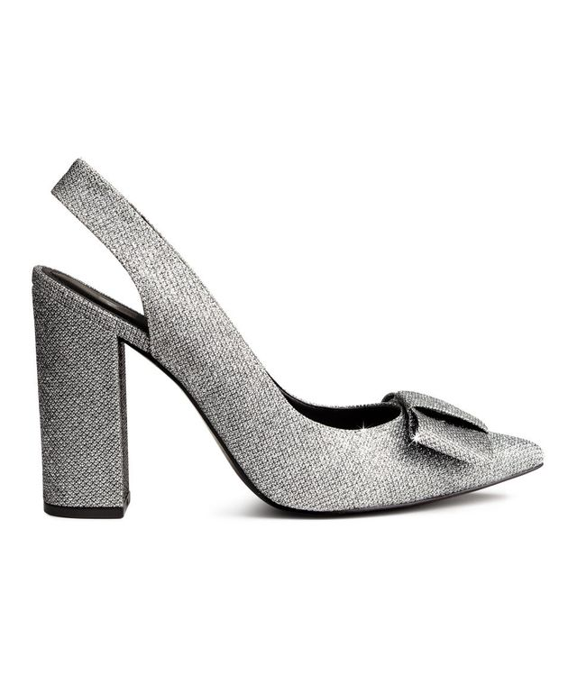 H&M Glittery Slingbacks
