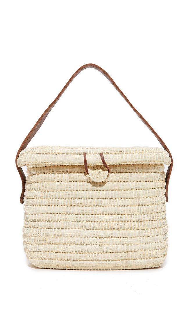 Sensi Studio Straw Basket Bag