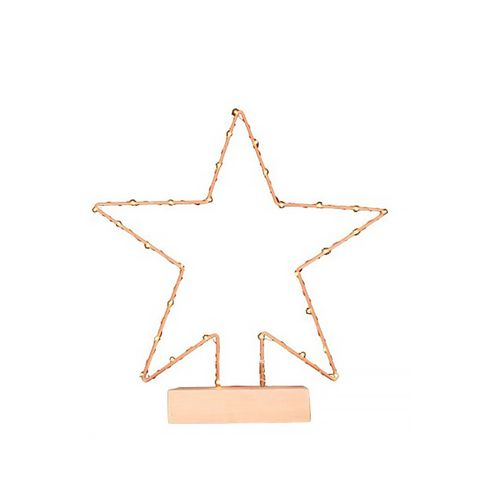 Lit Copper Star