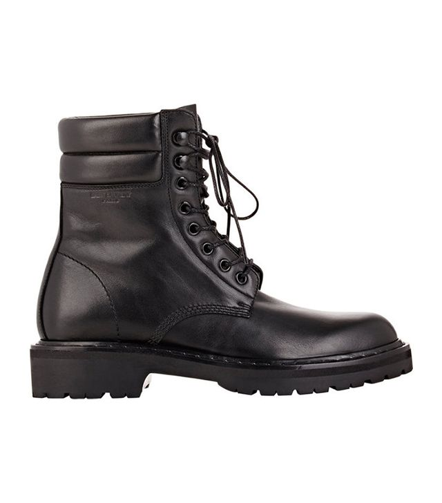 Saint Laurent Leather Trekker Boots