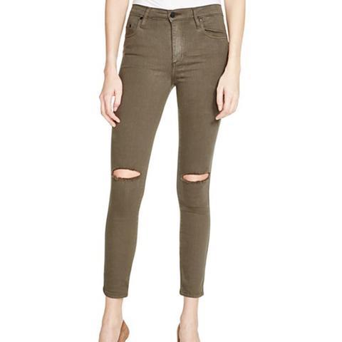 Cult Destructed Skinny Ankle Jeans