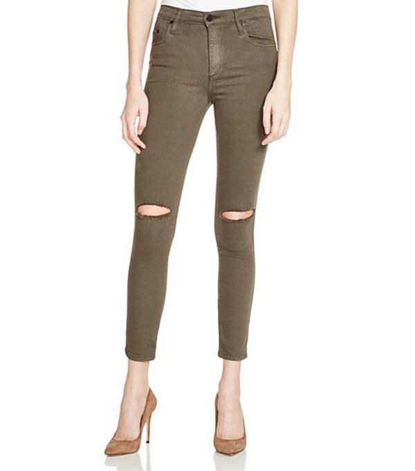 Nobody Cult Destructed Skinny Ankle Jeans