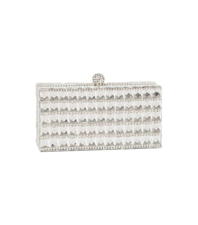 J. Furmani Crystal Box Clutch