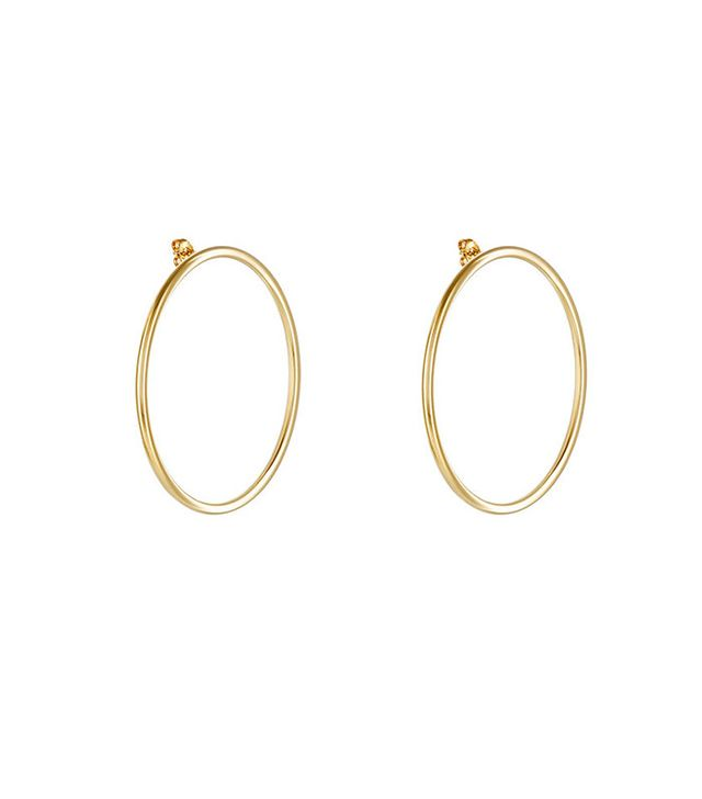 Jennifer Fisher XL Smooth Circle Earrings