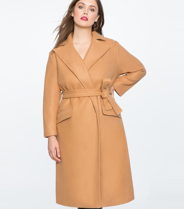 Eloquii x Katie Sturino Tie Waist Robe Coat