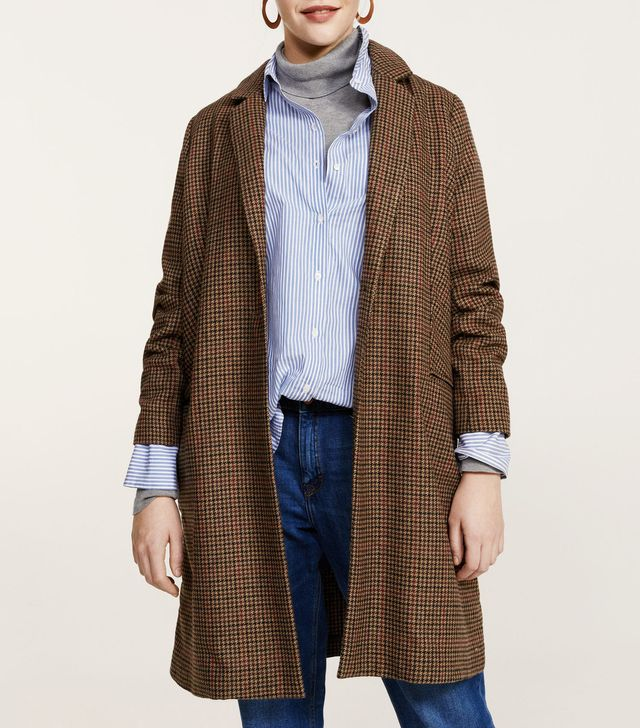 Micro houndstooth coat