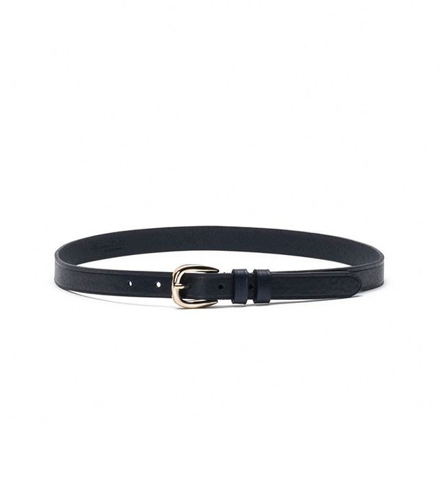 Massimo Dutti Blue Belt with Double Loop Detail