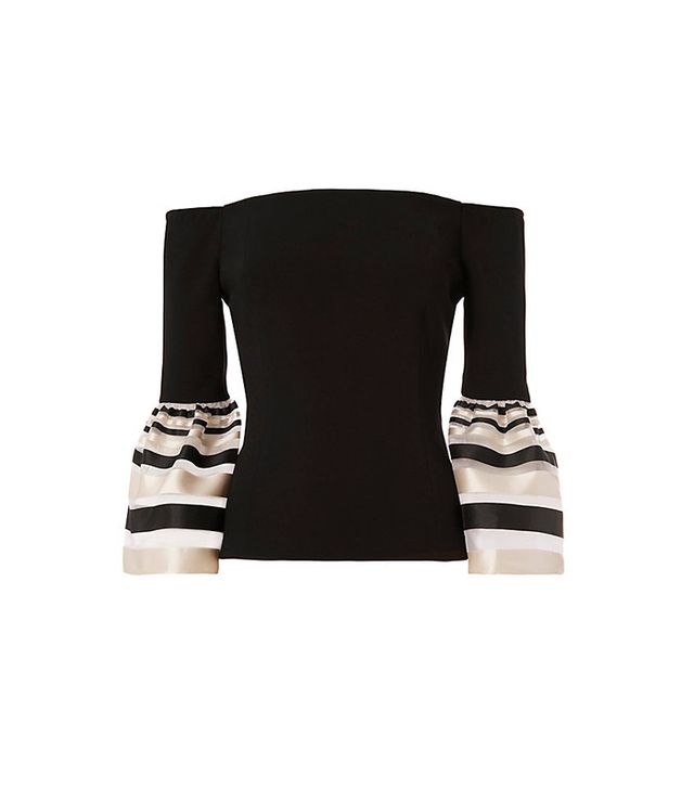 Exclusive for Intermix Dacia Sheer Stripe Flare Sleeve Top