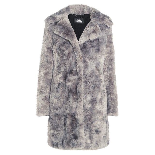 Karl Lagerfeld Faux Fur Coat