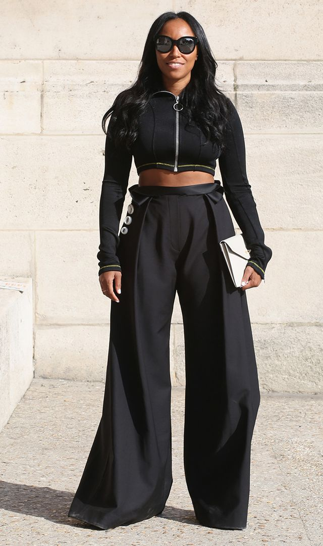 Shiona Turini can often be spotted in this high-waisted pants/skirt–and–crop top combo. This year, find whichever silhouettes you like best on your shape and you'll take a lot of...