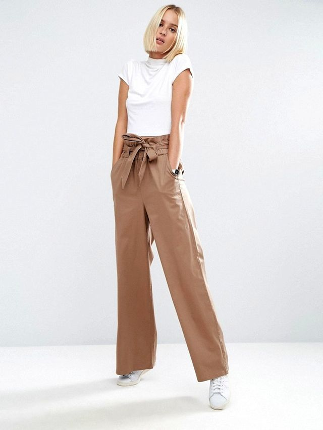 ASOS Wide Leg Pants with Paperbag Waist