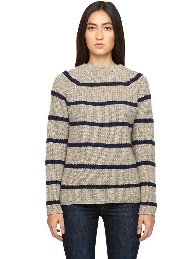 Jenni Kayne Cashmere Striped Fisherman Sweater