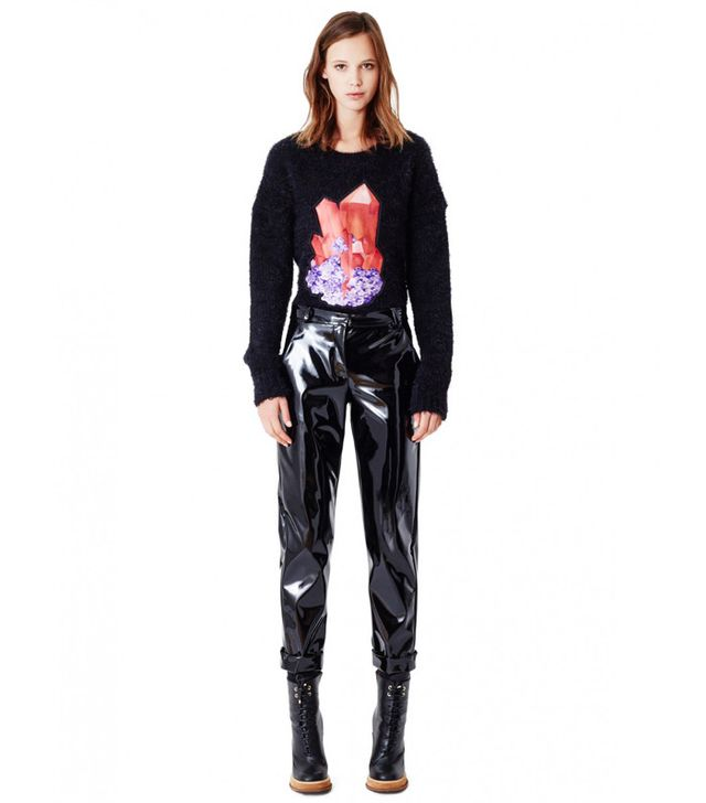 Carven Boyfriend Style Trousers With Front Pleats