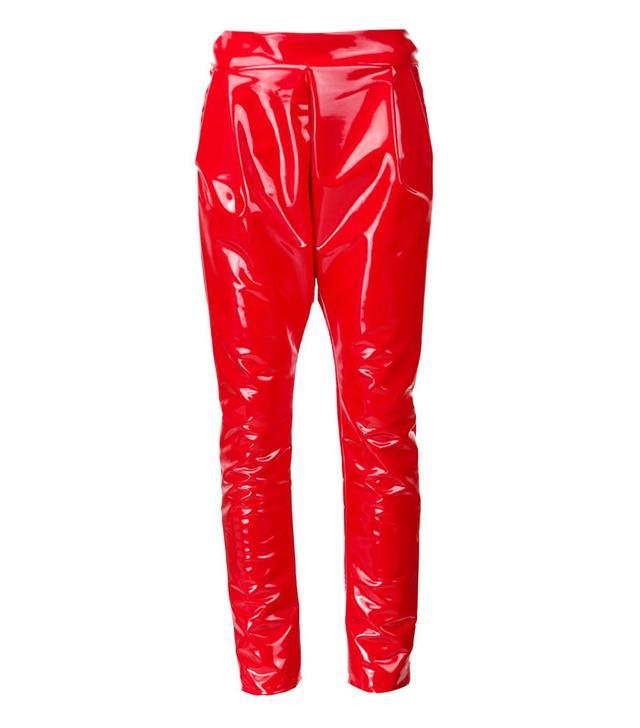 Les Animaux Vinyl Slim Fit Trousers