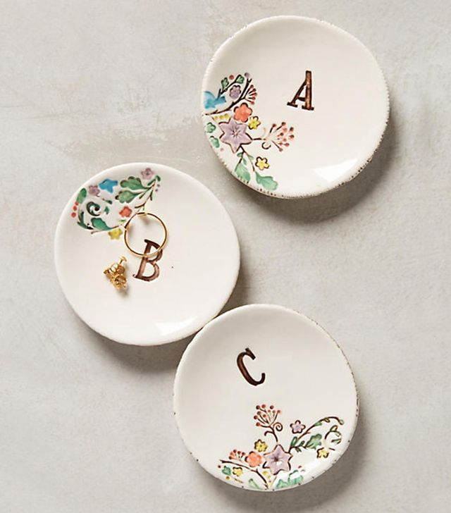 Anthropologie Monogrammed Garland Ring Dish