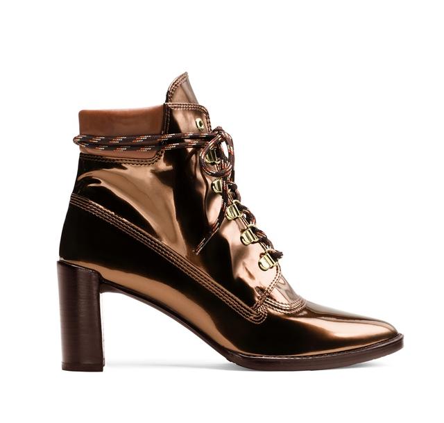 Stuart Weitzman The Gigi Boot in Glass Copper
