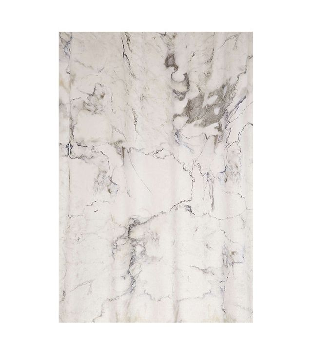 Urban Outfitters Black and White Marble Shower Curtain